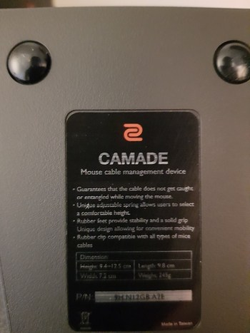 Zowie Camade Mouse Bungee Dimensions