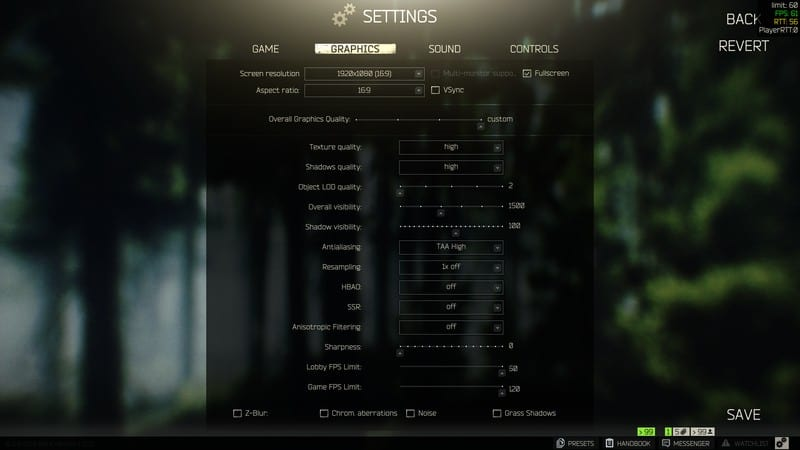 Deadly Slob Escape From Tarkov Settings