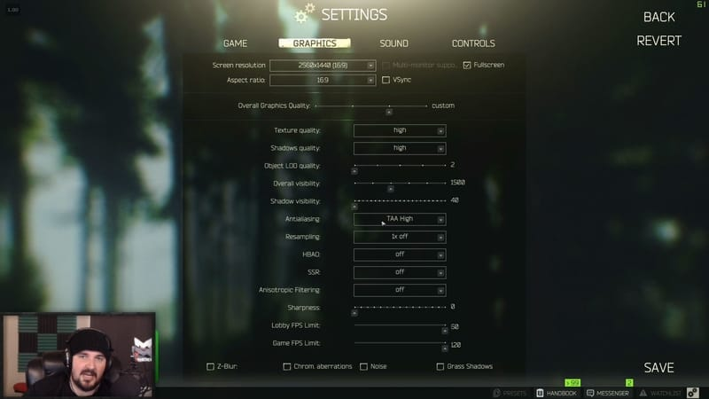 Kotton Escape From Tarkov Settings
