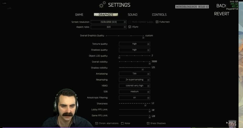 Sequisha Escape From Tarkov Settings