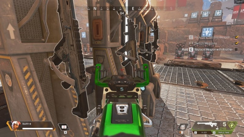 Model detail high on apex legends