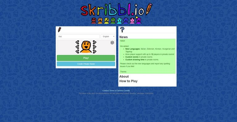 Skribbl.io custom word list
