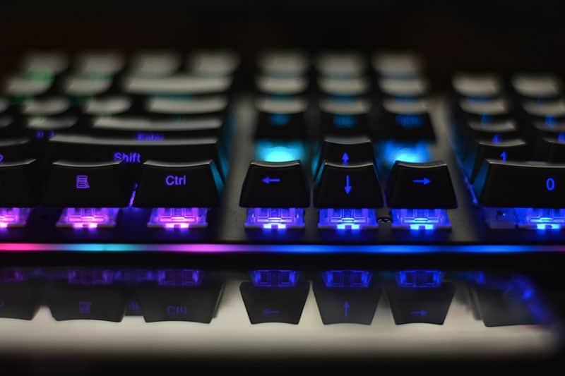 Gaming Keyboard Closeup